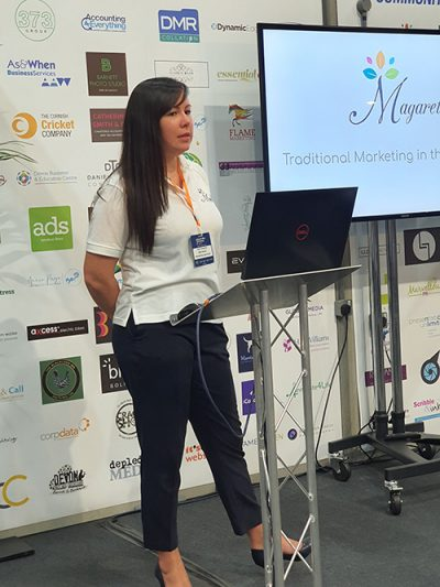 Sam Pengelly Magareth at South West Business Expo
